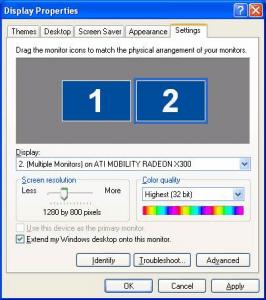 Windows Display Properties